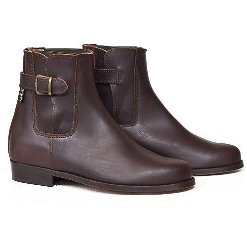 Botosvalverde.es 515H Botas y Botines para Hombre y Mujer marrón elástico y Hebilla Piso Cuero Fabricada en Valverde del Camino: Amazon.es: Zapatos y ...