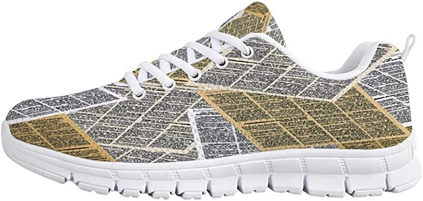 YOLIYANA Old Newspaper Decor Jogging Running ShoesPages of Old ...