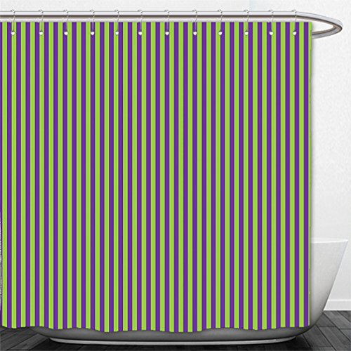 Interestlee Shower Curtain Pop Art Decor Vintage Retro 50s 60s Style Bold Stripes Rooms Wallpaper Image Royal Blue and Lime - Images Macy's