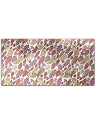 Falling Autumn Leaves Rectangle Tablecloth Large Dining Room Kitchen Woven Polyester Custom Print