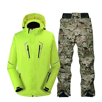 Zjsjacket Chaqueta de esqui pantalón de camuflaje Hombres ...