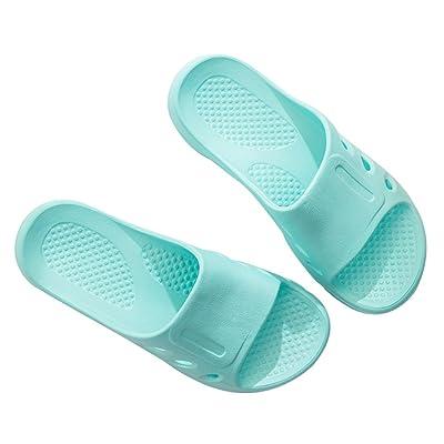 C'wait Women Summer Non-slip Lightly Bathroom Shower Slippers Open Toe