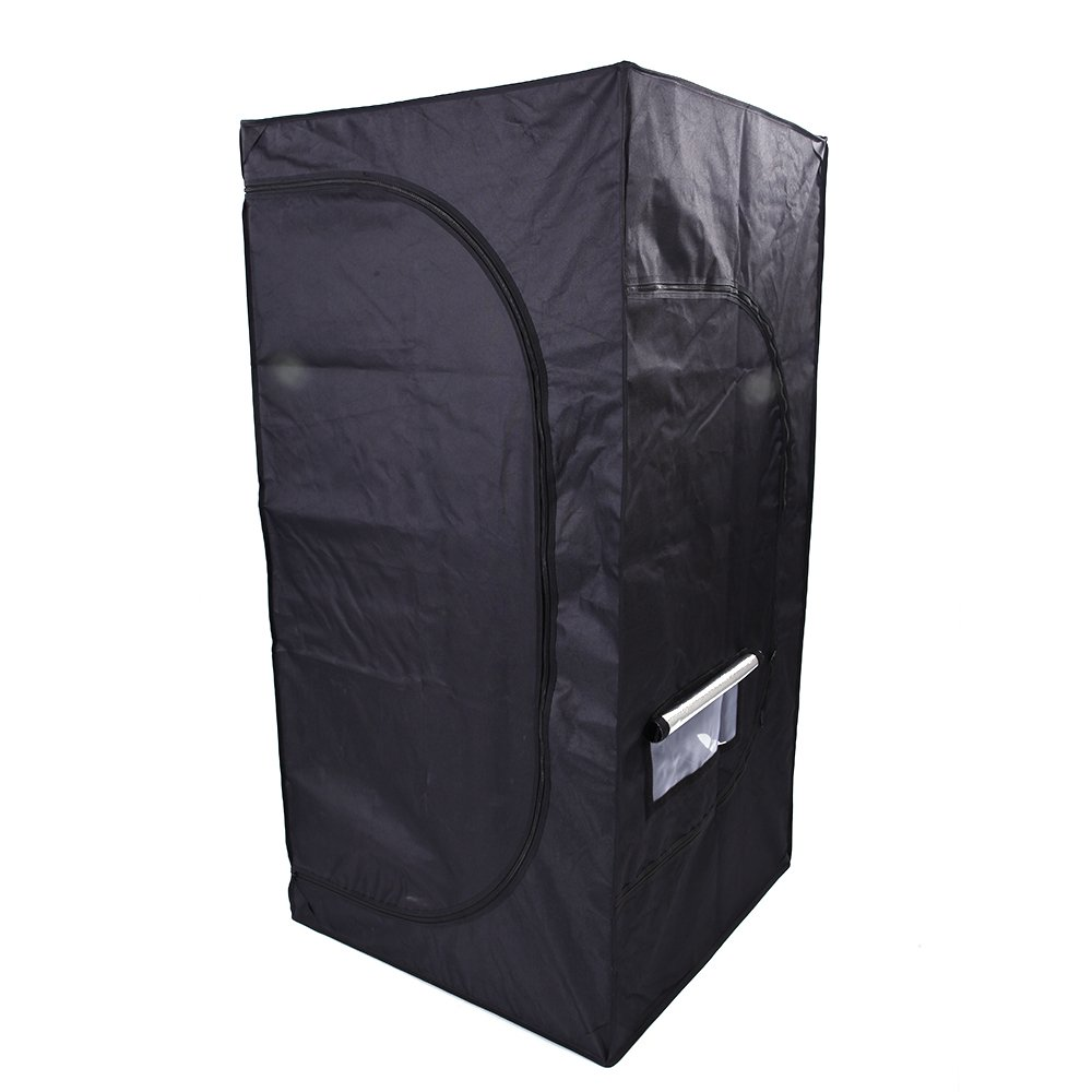 Olymstore 32 x 32 x 64-inch Reflective Mylar Hydroponics Plant Growing Tent, GreenHouse, Home Use Dismountable Water-Resistant Black for Indoor Seedling/Plant Growing & Germination by Olymstore (Image #2)