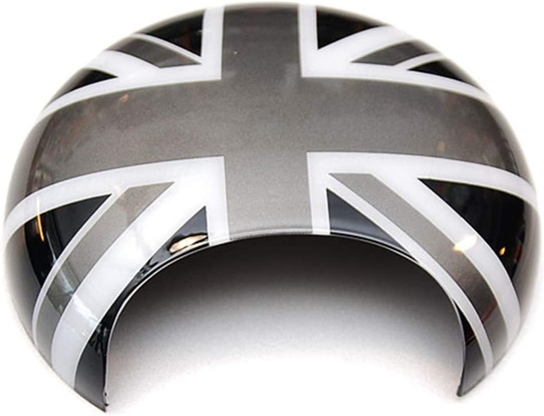 HDX Black//Gray Union Jack UK Flag ABS Sticker Cover Trim Cap for Mini Cooper ONE S JCW R Series R60 Countryman R61 Paceman 2010-2016 Gas Tank Door Fuel Cap