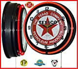 Cheap 18″ Texaco Petroleum Products Red Double Neon Clock