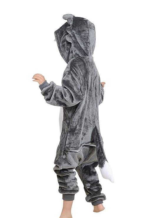 Amazon.com: Childrens Halloween Cosplay Wolf Animal Pajamas Animal Onesie sleepwear: Clothing