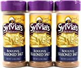 Sylvias Soulful Seasoned Salt, 7-Ounce Containers (Pack of 3)