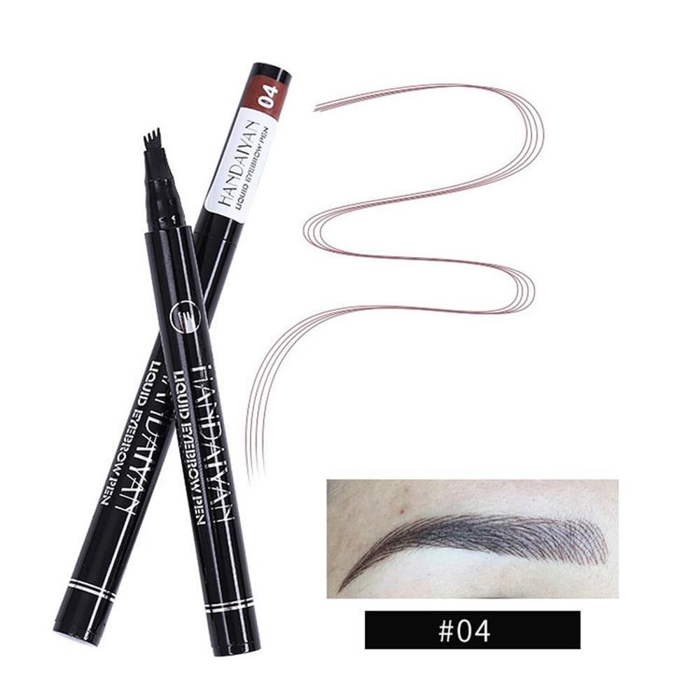 Tattoo Eyebrow Pen Kobwa Eyebrow Pencil With Four Tips Long Lasting