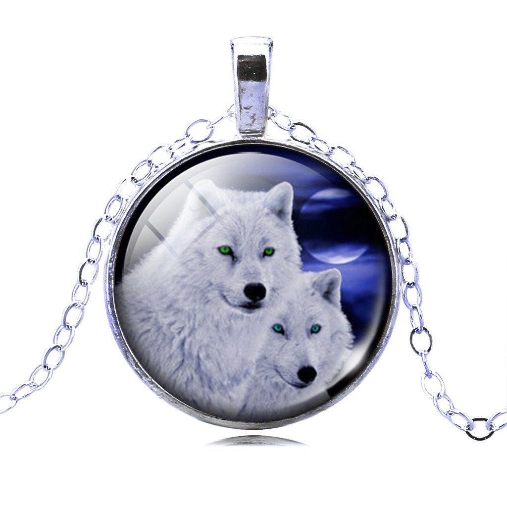JIAYIQI Wolves Necklaces Glow Moon Necklace Wolf Stuff for Girls and Boys by JIAYIQI (Image #1)