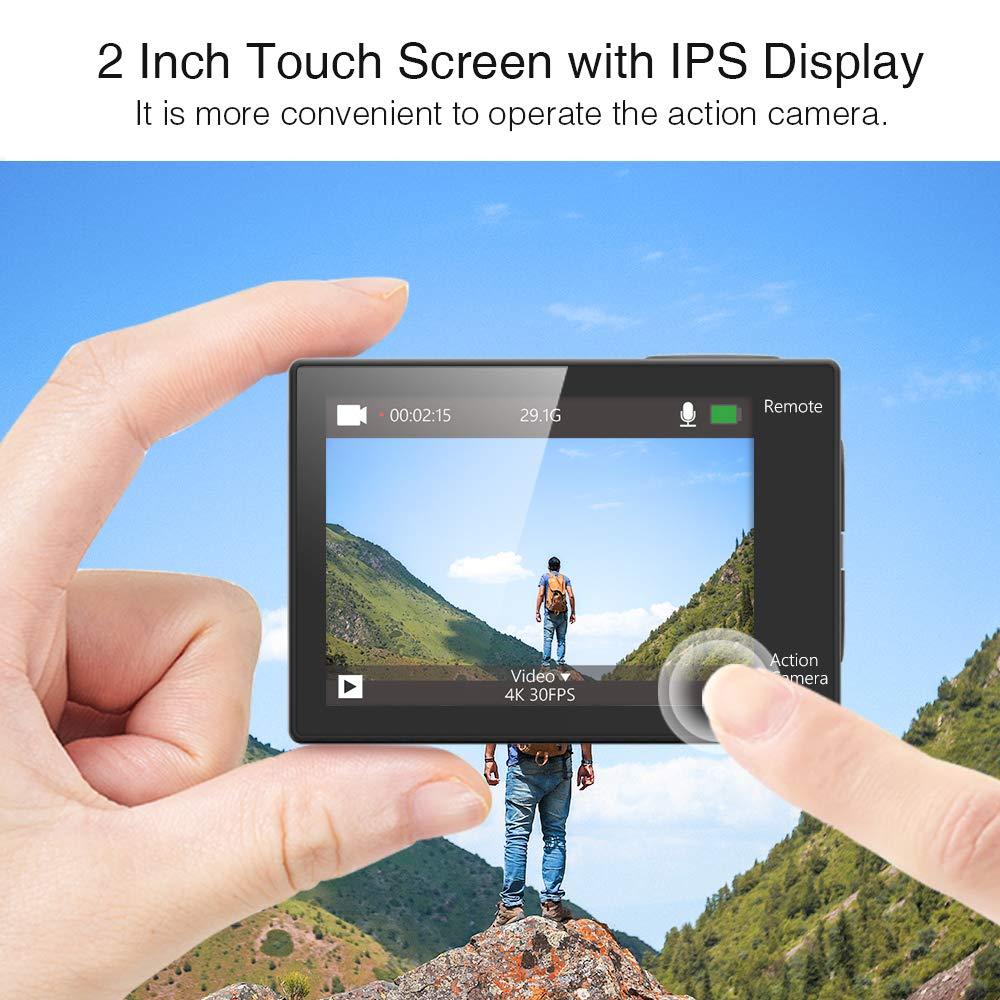 Amazon.com: Dragon Touch Cámara de acción de 4 K, pantalla ...