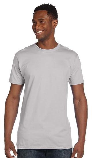 ad964a09 Amazon.com: Hanes 4.5 oz., 100% Ringspun Cotton nano-T® T-Shirt ...