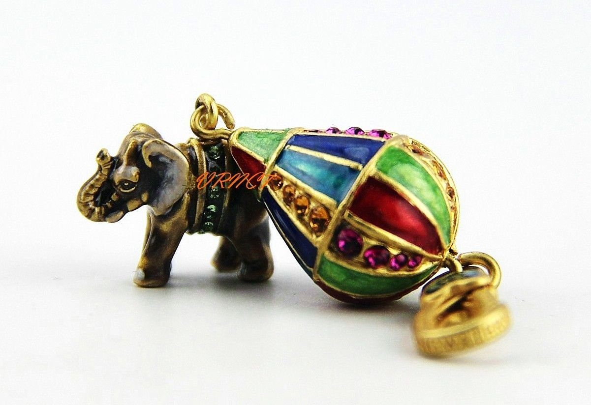 Jay Strongwater New Collection, Howie Elephant on Balloon Charm