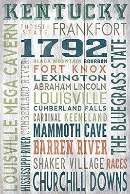 Kentucky - Rustic Typography