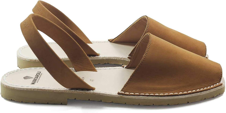 MARKAROLI Menorquinas Abarcas Moda para Hombre. Un artículo Exclusivo. Calzado de Piel Natural. Auténticas Abarcas Hechas a Mano en Menorca - Modelo: Menorca Oasis