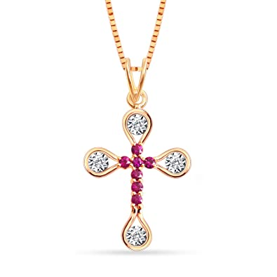 Amazon jewel ivy easter offer 14k diamond ruby cross jewel ivy easter offer 14k diamond ruby cross pendant cross necklace aloadofball Choice Image