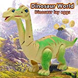 Electronic dinosaur toys,Walking Brachiosaurus dinosaur toy lay eggs while walking Figure with...