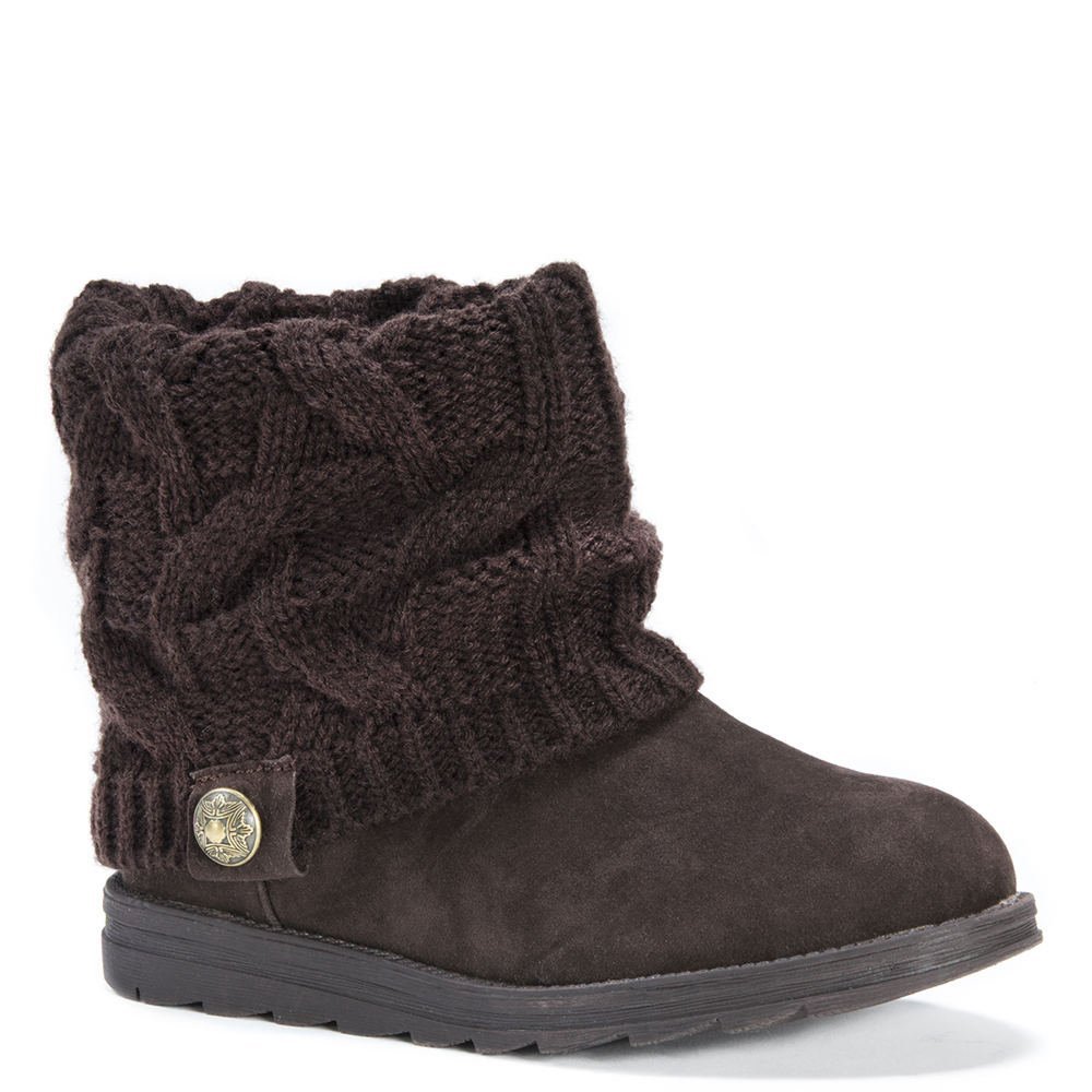 MUK LUKS Women's Patti Boot Ankle Bootie B01KUAN362 11 B(M) US|Brown