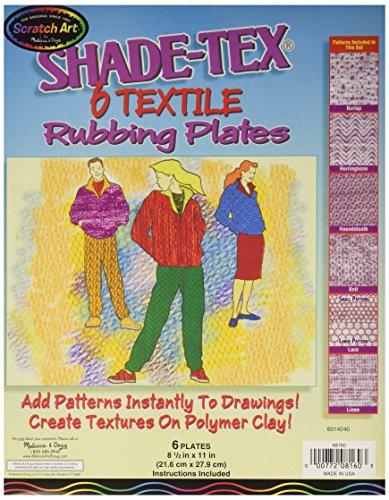 Melissa & Doug Scratch Art Shade-Tex Rubbing Plates - Textiles 6-Pack ()