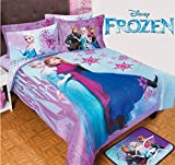 FROZEN DISNEY ORIGINAL KIDS GIRLS CHIC COMFORTER SET AND SHEET SET 7 PCS QUEEN SIZE