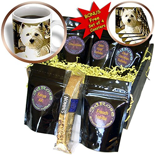 Dogs West Highland Terrier - Westie - Coffee Gift Baskets - Coffee Gift Basket (cgb_609_1)