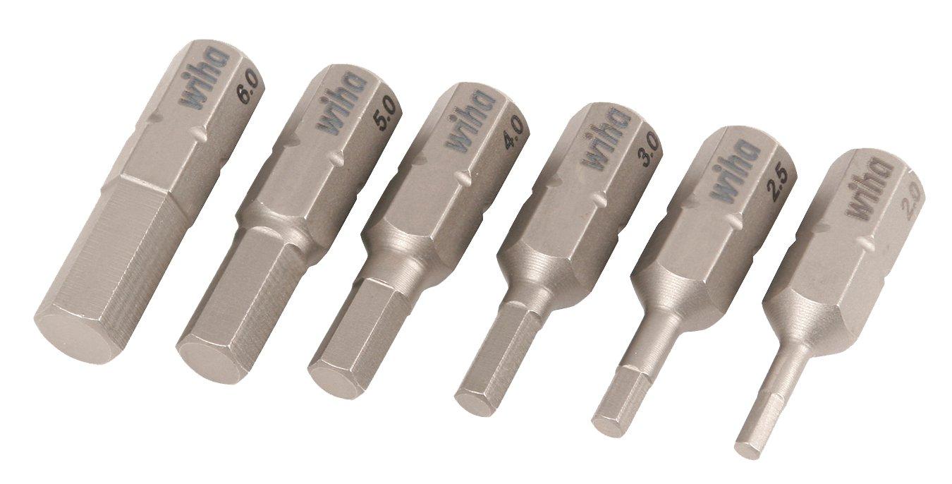 Wiha 71397 2.0 to 6.0mm Hex MatricoInsert Bit, 6-piezas (...