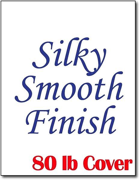 Amazon.com: Cartulina blanca suave y sedosa para impresoras ...