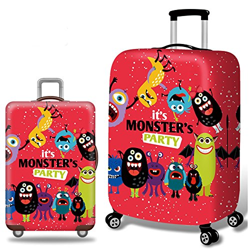 Panda Bear Is Covered In Pink Travel Suitcase Protector Zipper Suitcase Cover Elastic