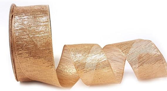 Berisfords 7mm Rustic Gingham Brown Ribbon 5m Reel