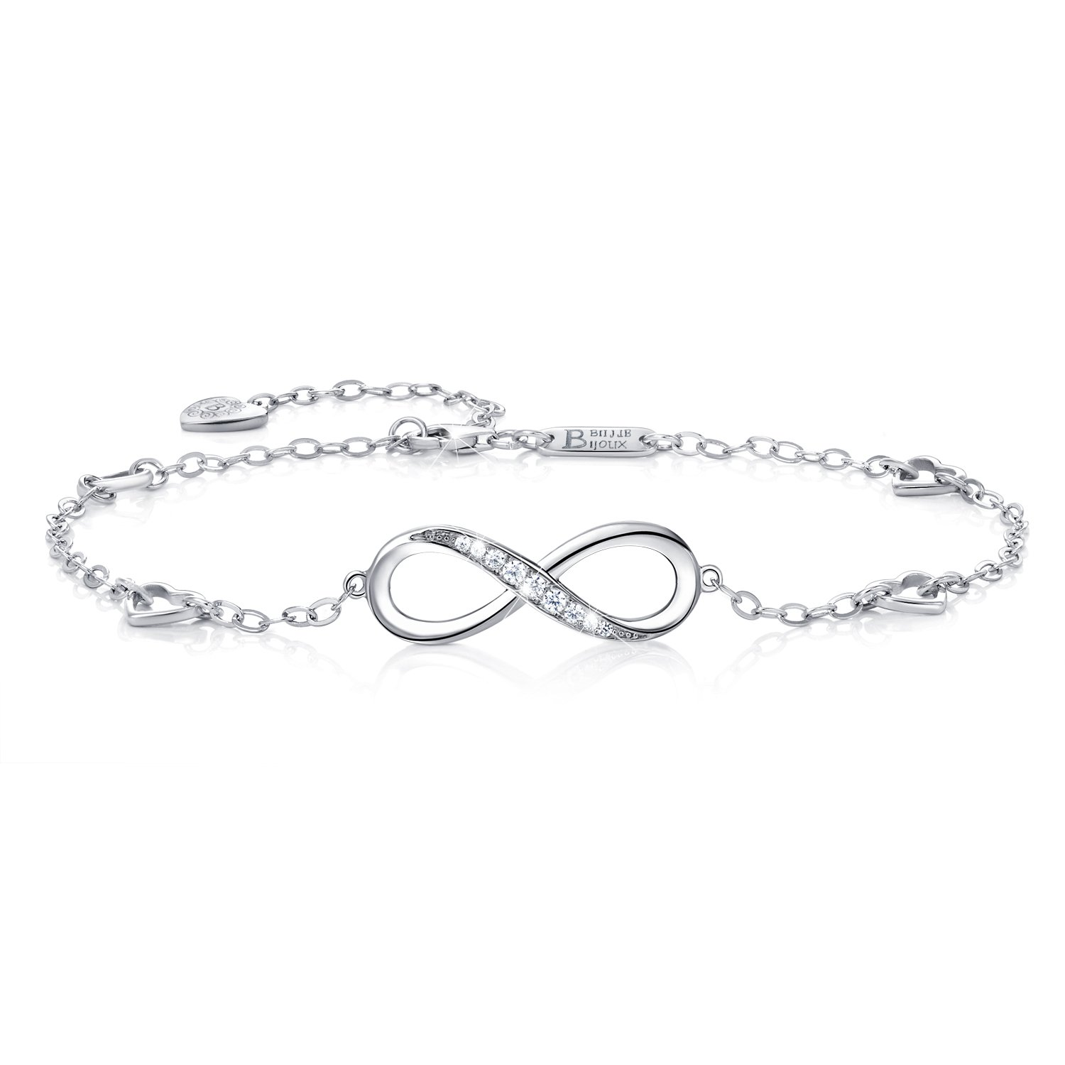 bracelet product heart sterling ssa anklet charms shop silver and bear