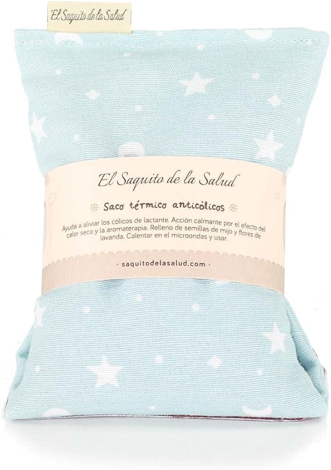 Azul estrellas Saco t/érmico anti-c/ólicos beb/é.Especial reci/én nacido 17 x 10cm