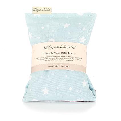 Saco Térmico de Semillas Anti Cólico del Lactante aroma a Lavanda Celeste con Estrellitas