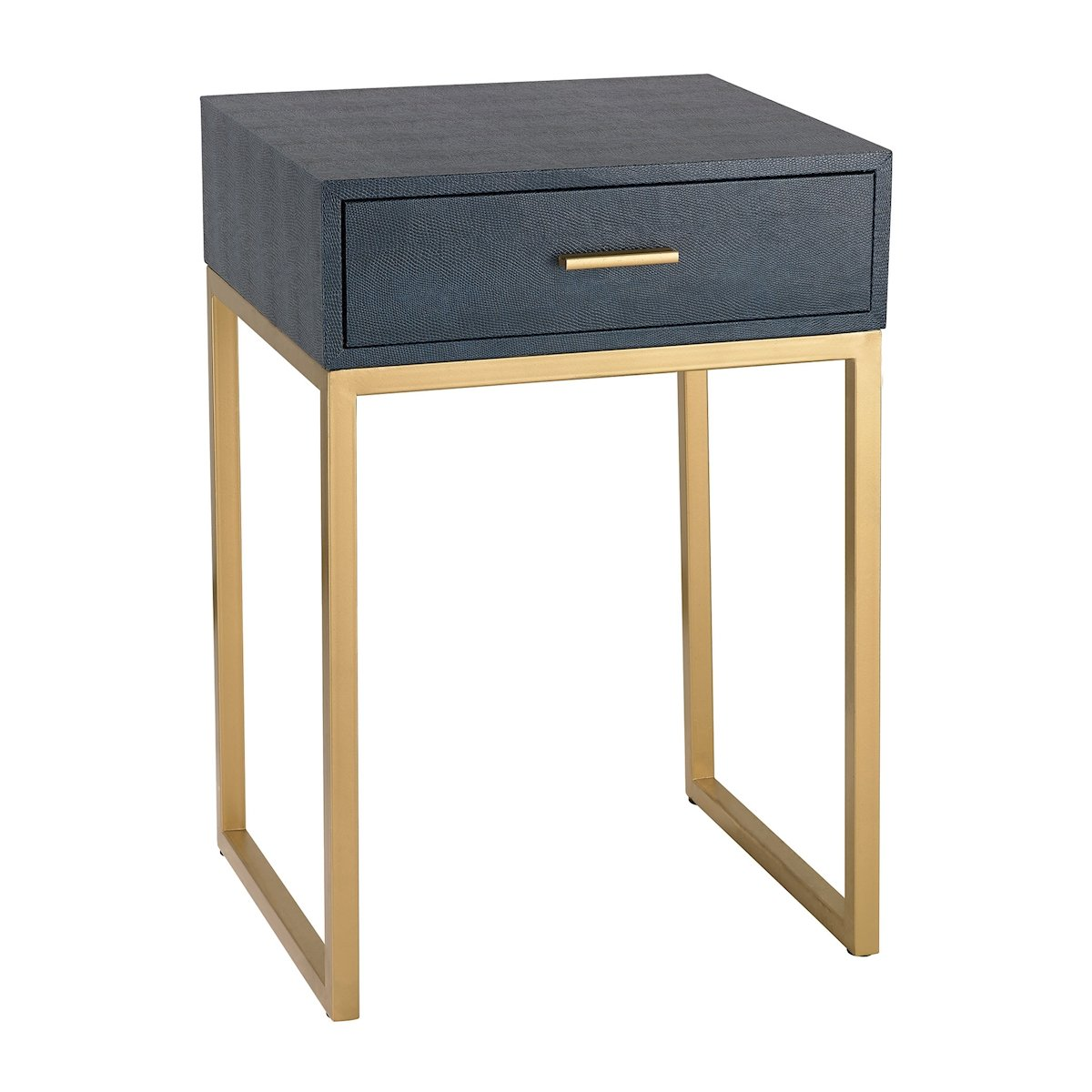 Sterling Industries Shagreen Side Table in Navy Finish