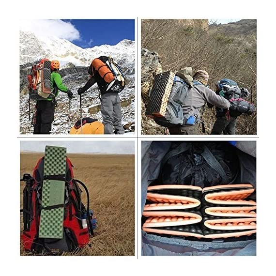 Outdoor Hiking Mountaineering Foam Camping Mat Sleeping Pad in Tent Dampproof Mattress Foam 6 Material: IXPE. Suitable for four seasons.100% brand new and high quality The egg cell shape is soft and comfortable, this shape does not change the weight of the situation greatly increases comfort. It's the best choice for people seeking sleep-any-where, on any-thing durability and comfort