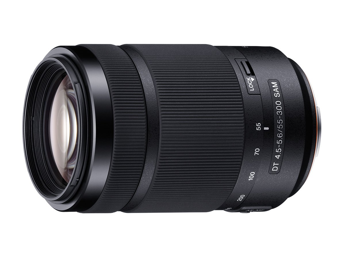 Sony 55-300mm DT f/4.5-5.6 SAM Telephoto Zoom A-Mount Lens by Sony