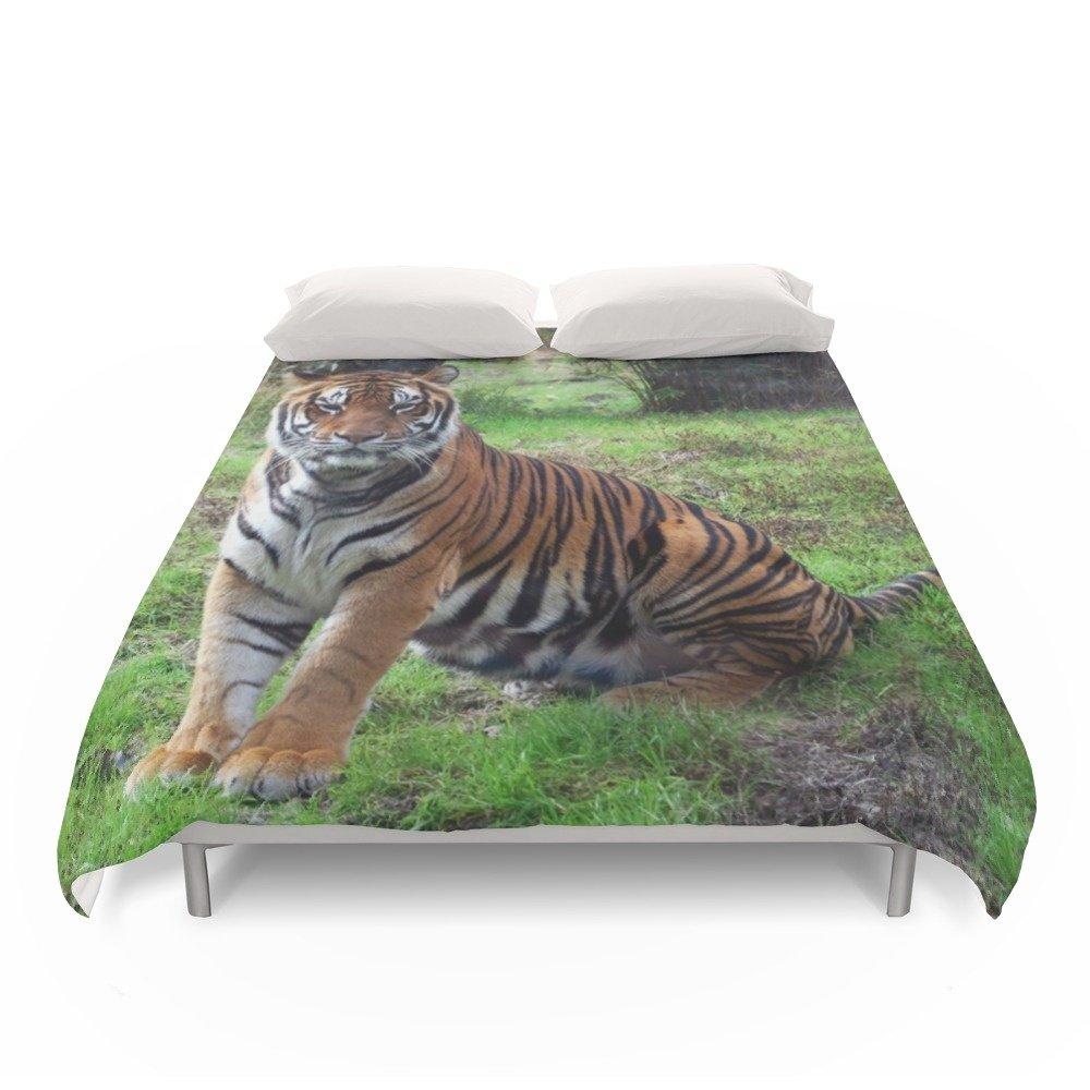 Society6 Tiger At Animal Kingdom, FL Duvet Covers Full: 79'' x 79''