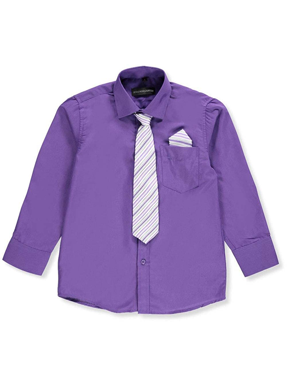 Kids World Boys Dress Shirt with Accessories