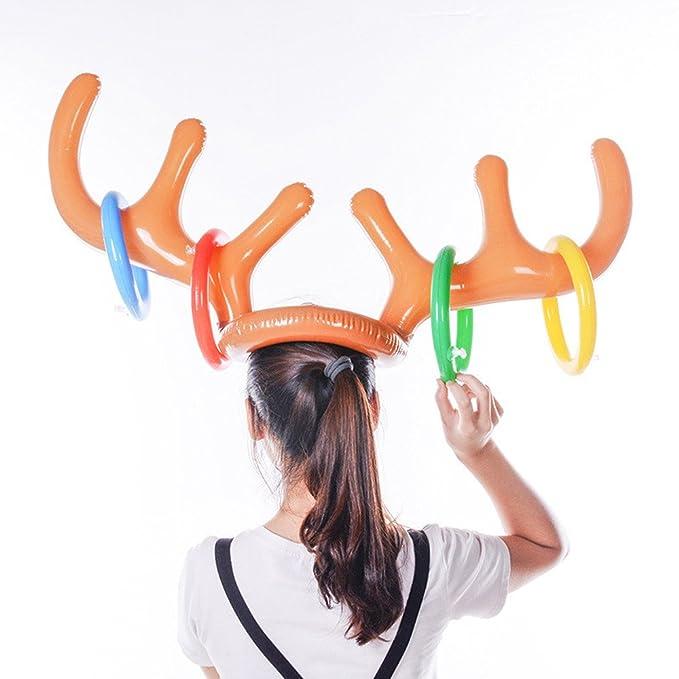 Vovomay - Gorro de Navidad Hinchable con diseño de Reno: Amazon.es ...