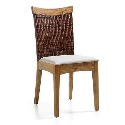 SET 4 PEZZI Sedia etnica con seduta imbottita. Realizzato ...