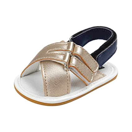 Image Unavailable. Image not available for. Color  BOBORA Toddler Newborn  Baby Shoes Cross PU Leather Soled Sandals for 0-18M 520edae05ed3