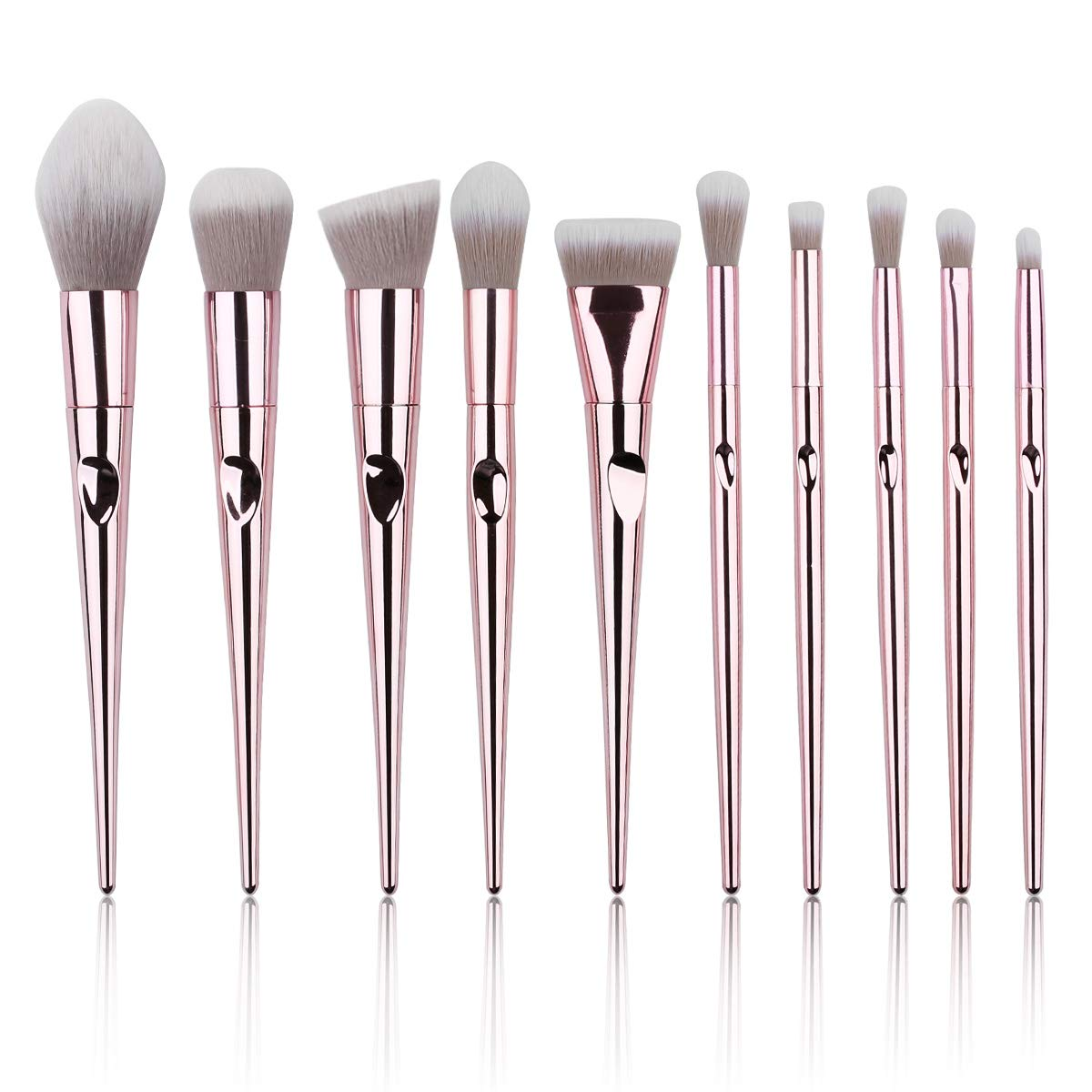10 PCs Makeup Brush Set Premium Synthetic Foundation Powder Brushes Concealers Eyeshadows Makeup Brushes Kit