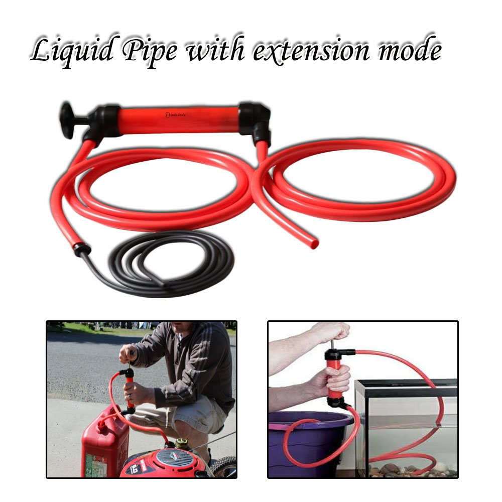 Zento Deals 3-in-1 Hand Siphon Pump Gas/Liquid/Air Manual Travel Emergency Vehicle Pump by Zento Deals (Image #5)
