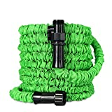 Hose Garden Expandable, 25 Ft Cheap Flexible Cloth Stretch Garden Hose Featherweight, Shrinking Outside Garden Hose, Flexible Collapsible Compact Hose Kink Free High Pressure with 3/4 Inch Fittings