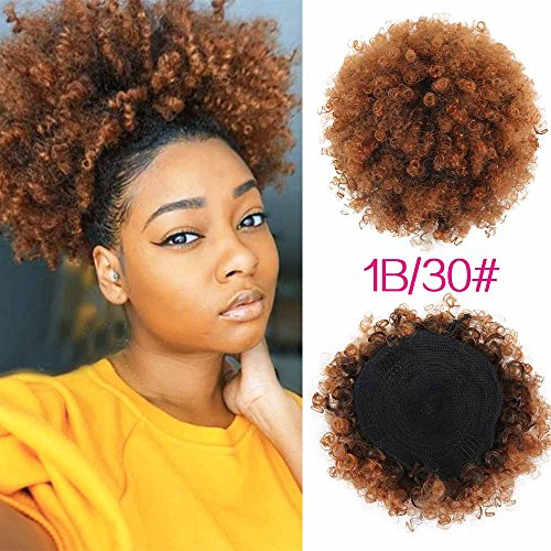 High Puff Afro Ponytail Drawstring Short Kinky Curly Pony Tail Clip