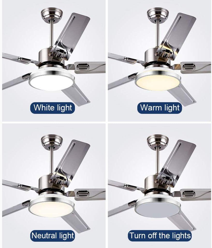 Acero Inoxidable Luz del Ventilador de Techo con Luz LED Y Control ...