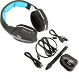 OBEST HUHD HW-398M 2.4Ghz Fiber-optical Wireless Gaming Headset for Xbox 360,PS4,PS3,PC,MAC and Compatible with Xbox One,Detachable Microphone(Blue)