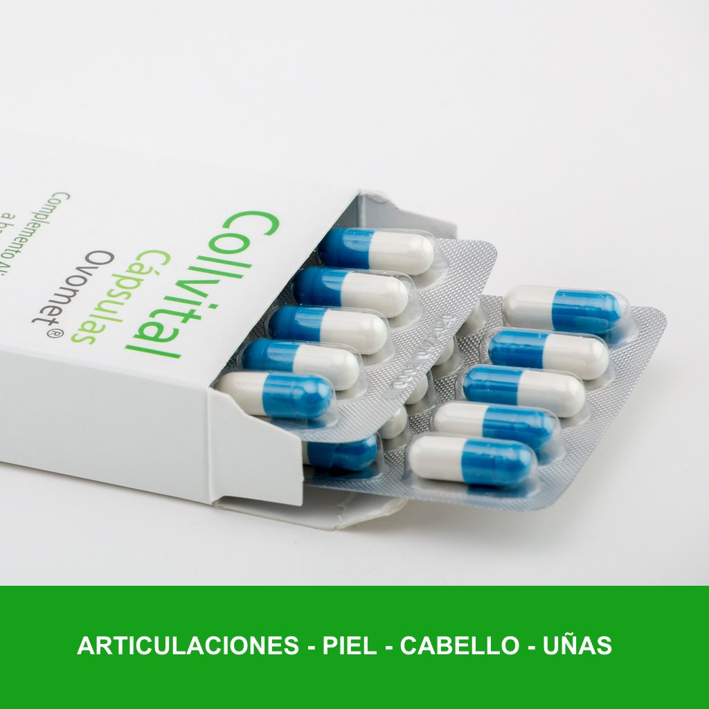 Colágeno hidrolizado + Acido hialurónico + Vitamina C + Zinc y Magnesio + OVOMET cápsulas. Alta concentración 1 sola cápsula al día, anti-inflamatorio ...