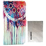 Camiter Colorful Painting Design Luxury Premium PU Leather Wallet Folio Protective Skin Pouch Case with Magnetic Closure for Nokia Lumia 435 (Built-in Stand Function /Credit Card/ID Card Slot)