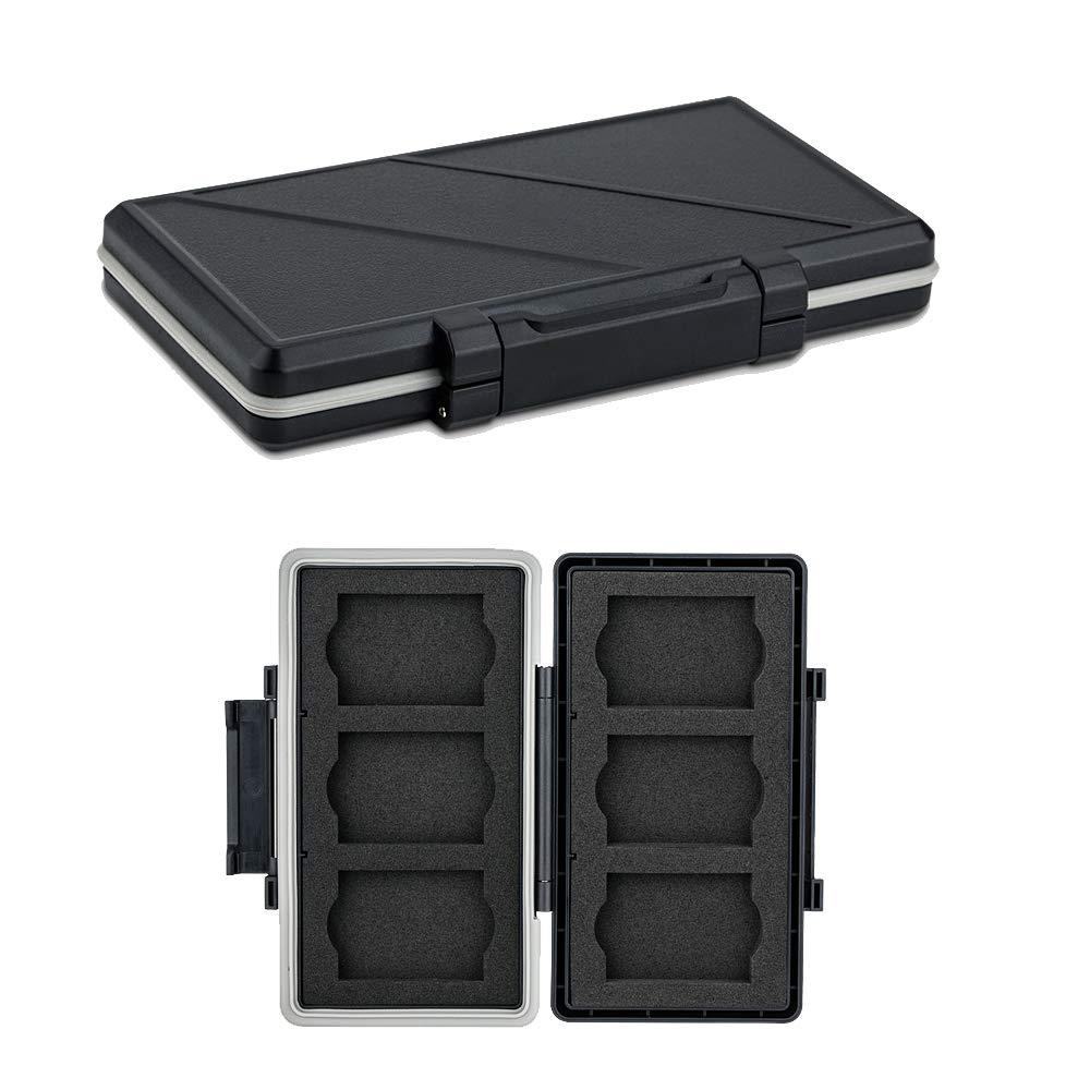 6 Slots XQD Card Holder, Water-Resistant Shockproof, XQD Memory Card Case Protector Storage Box for Nikon Z6 Z7 D4 D850 D5 D500 D4S Panasonic Lumix ...