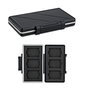 6 Slots XQD Card Holder, Water-Resistant Shockproof, XQD Memory Card Case Protector Storage Box for Nikon Z6 Z7 D4 D850 D5 D500 D4S Panasonic Lumix ...
