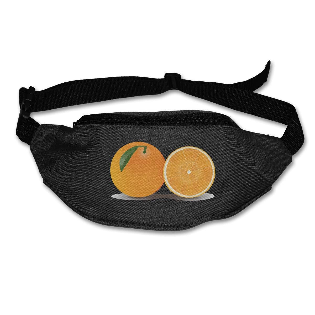 Waist Purse Orange Art Pattern Unisex Outdoor Sports Pouch Fitness Runners Waist Bags